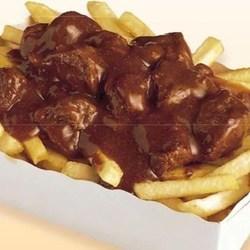 Kleine friet stoofvlees